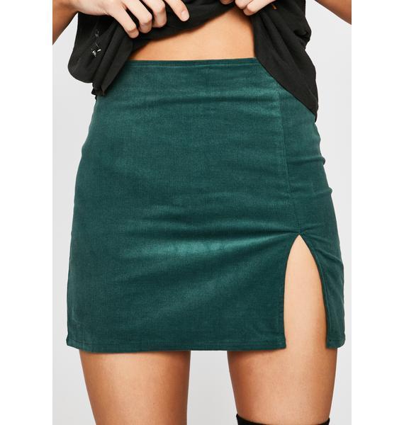 Emerald Total Temptation Corduroy Skirt