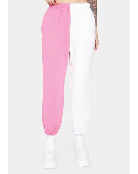 Strawberry Slacker Squad Two Tone Sweatpants