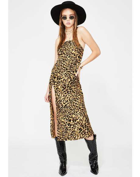 Leopard Quinty Maxi Dress