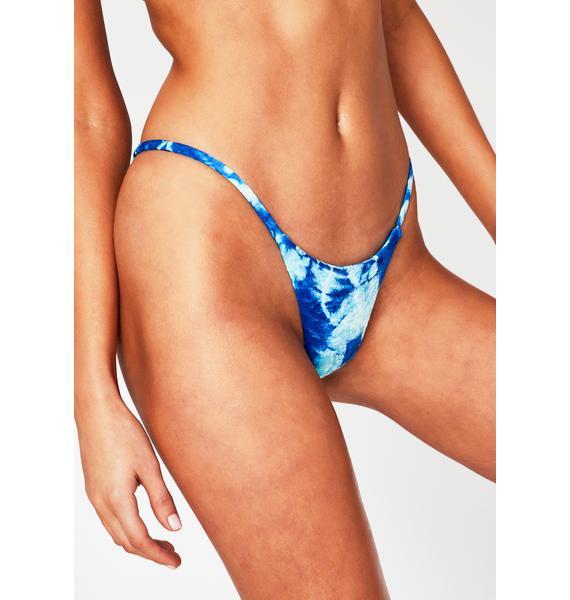Frankies Bikinis Aqua Tie Dye Nicola Bikini Bottoms