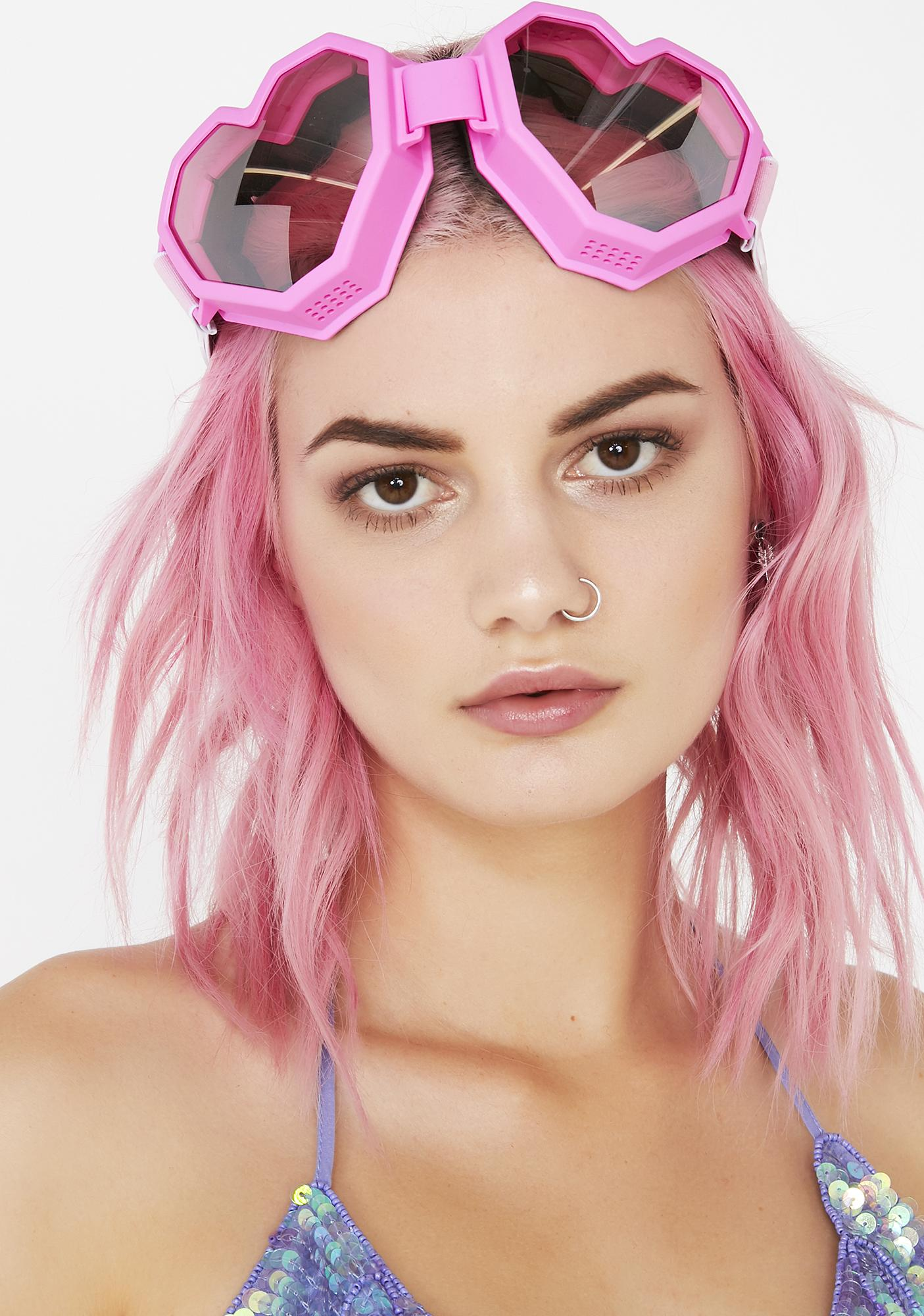 ESQAPE Pink Heart Goggles