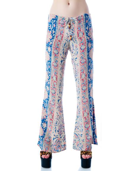 Tapestry Drawstring Pants