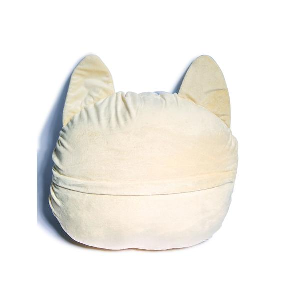 White Cat Pillow
