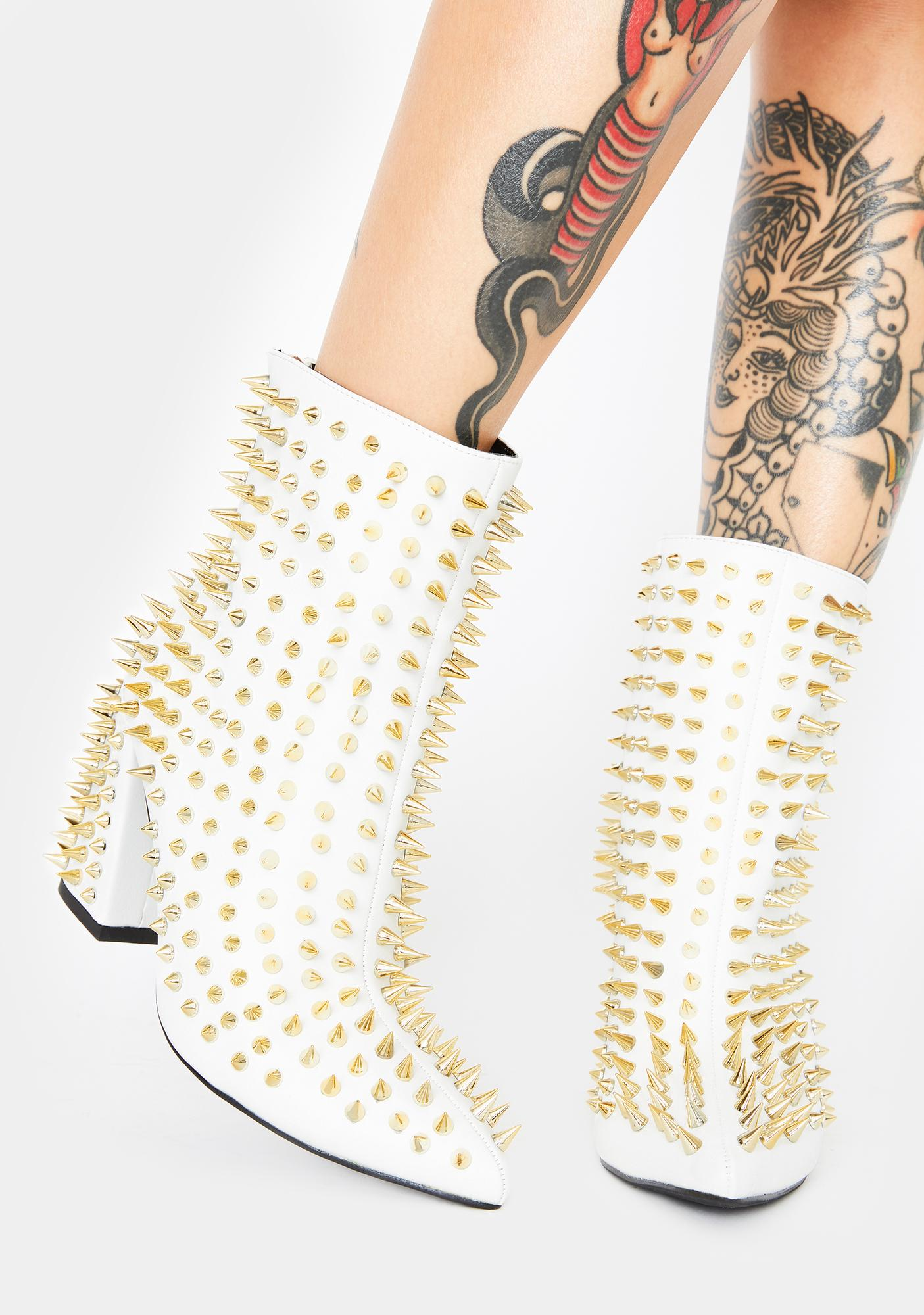 Salty Punk Attitude Spiked Booties