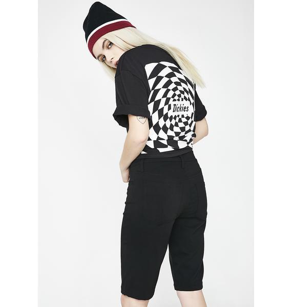 Dickies Girl Mid Rise Stretch Bermuda Shorts