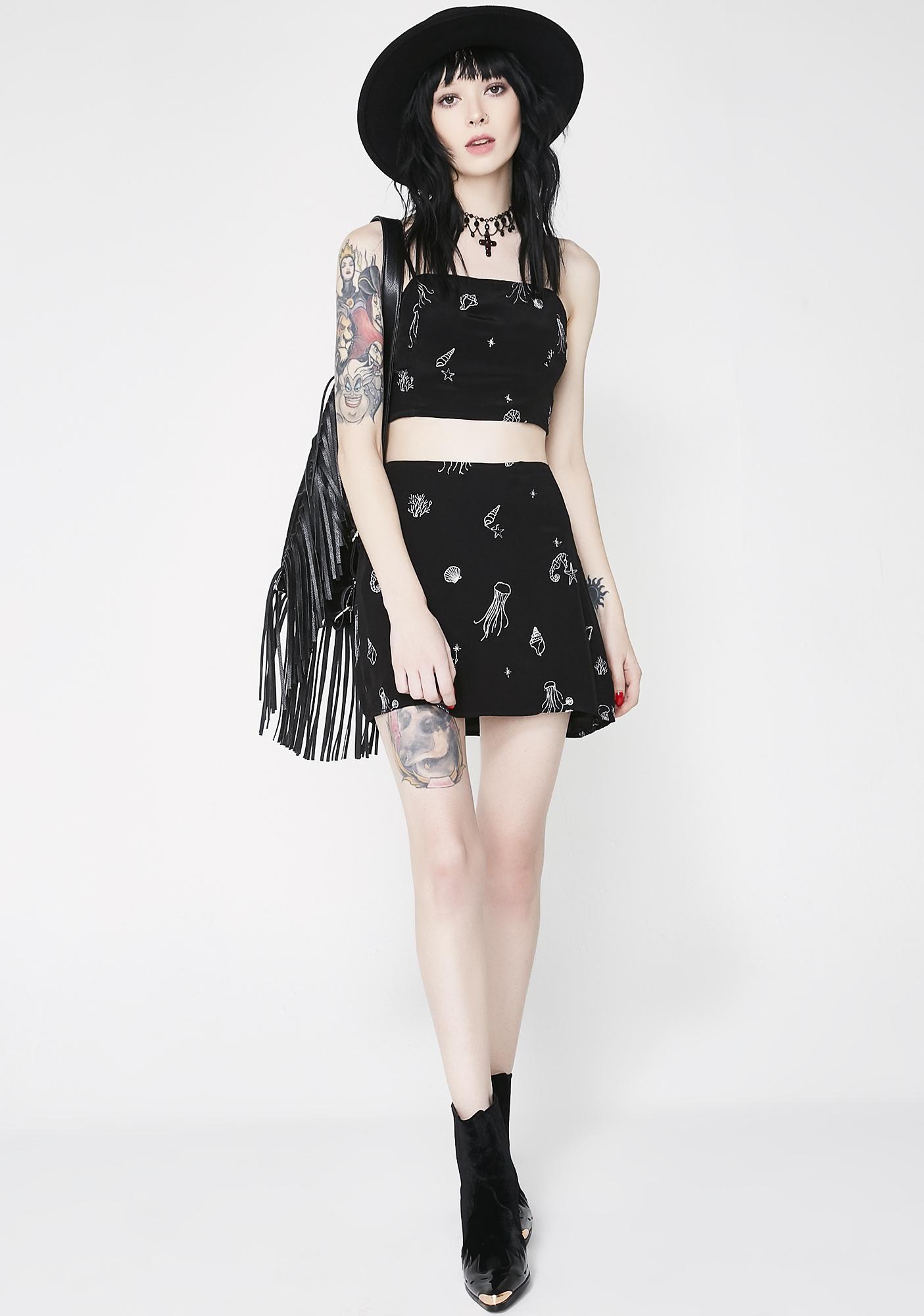 Sea Creature Mini Skirt
