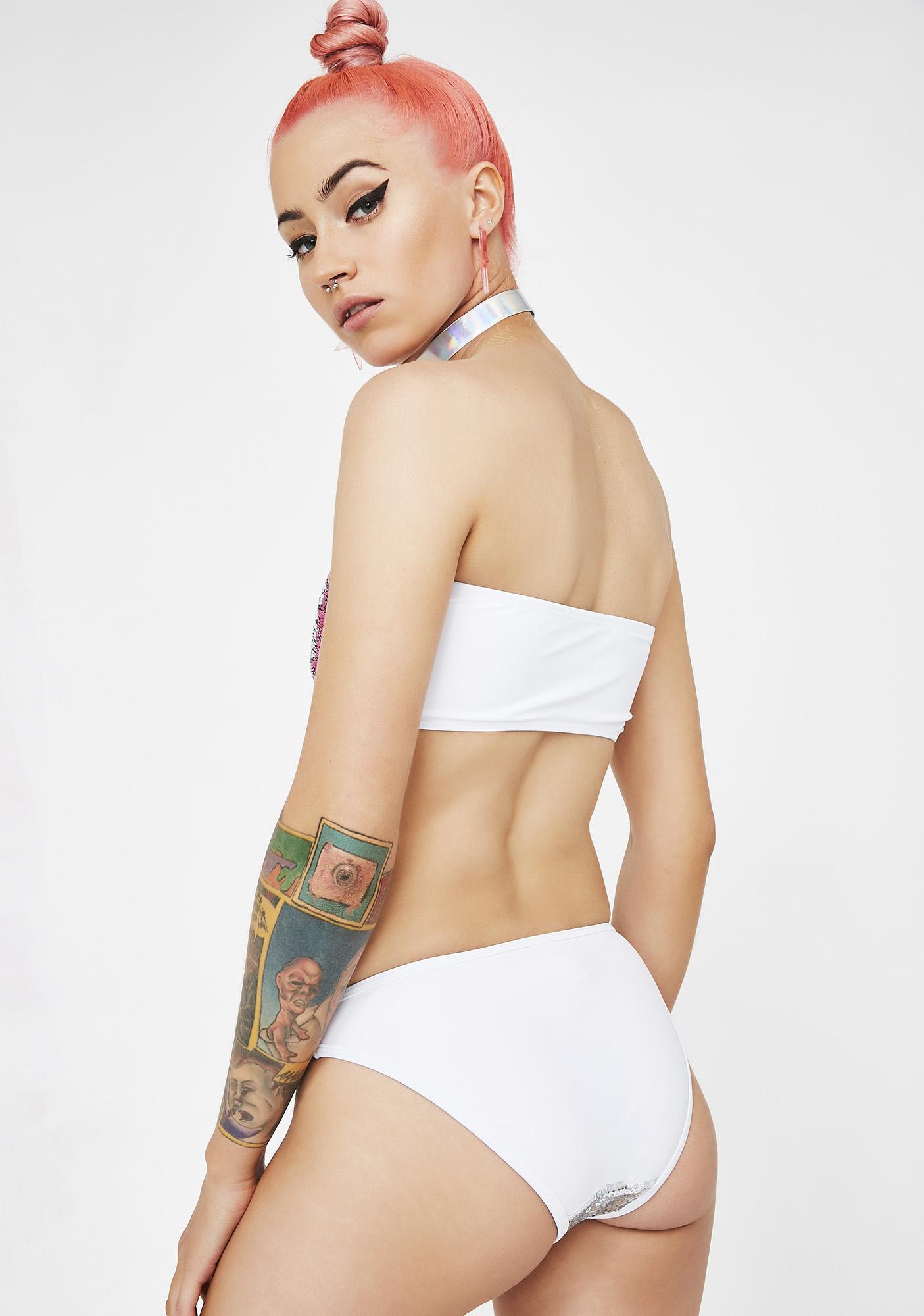 Jaded London Sequin Bikini Bottoms