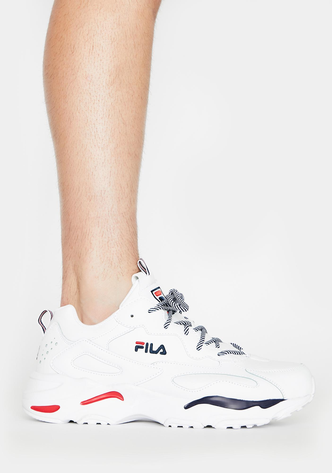 Fila Unisex White Ray Tracer Sneakers