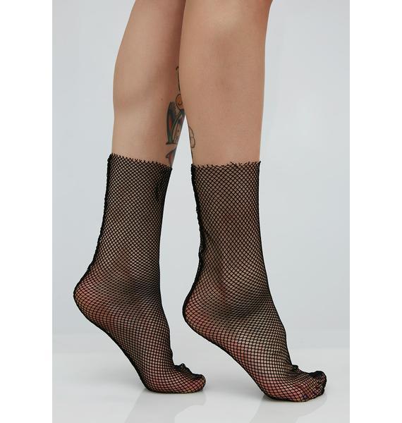 Cat Claw Fishnet Socks