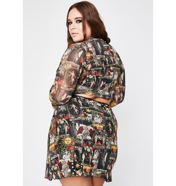 HOROSCOPEZ Her Divine Insight Mesh Skirt