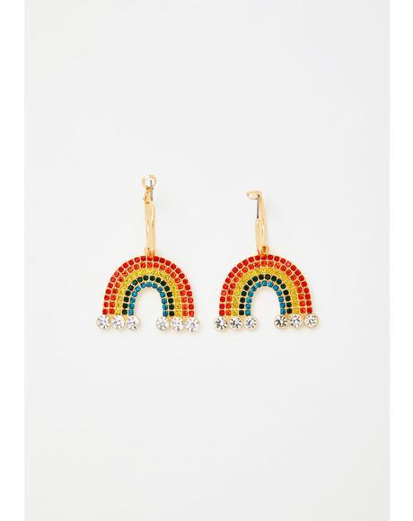 Make Me Happy Rainbow Earrings