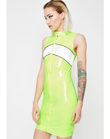 Electrik Engines Go Vinyl Dress