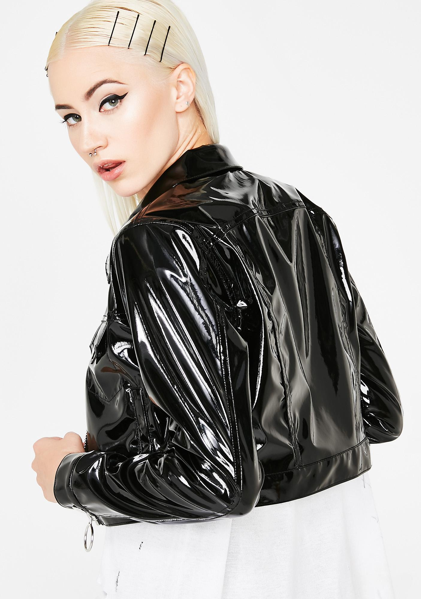 Current Mood Nocturnal Fantasy Cropped Jacket