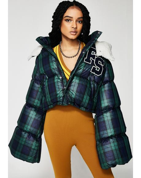 FENTY PUMA By Rihanna Cropped Hooded Puffer Jacket