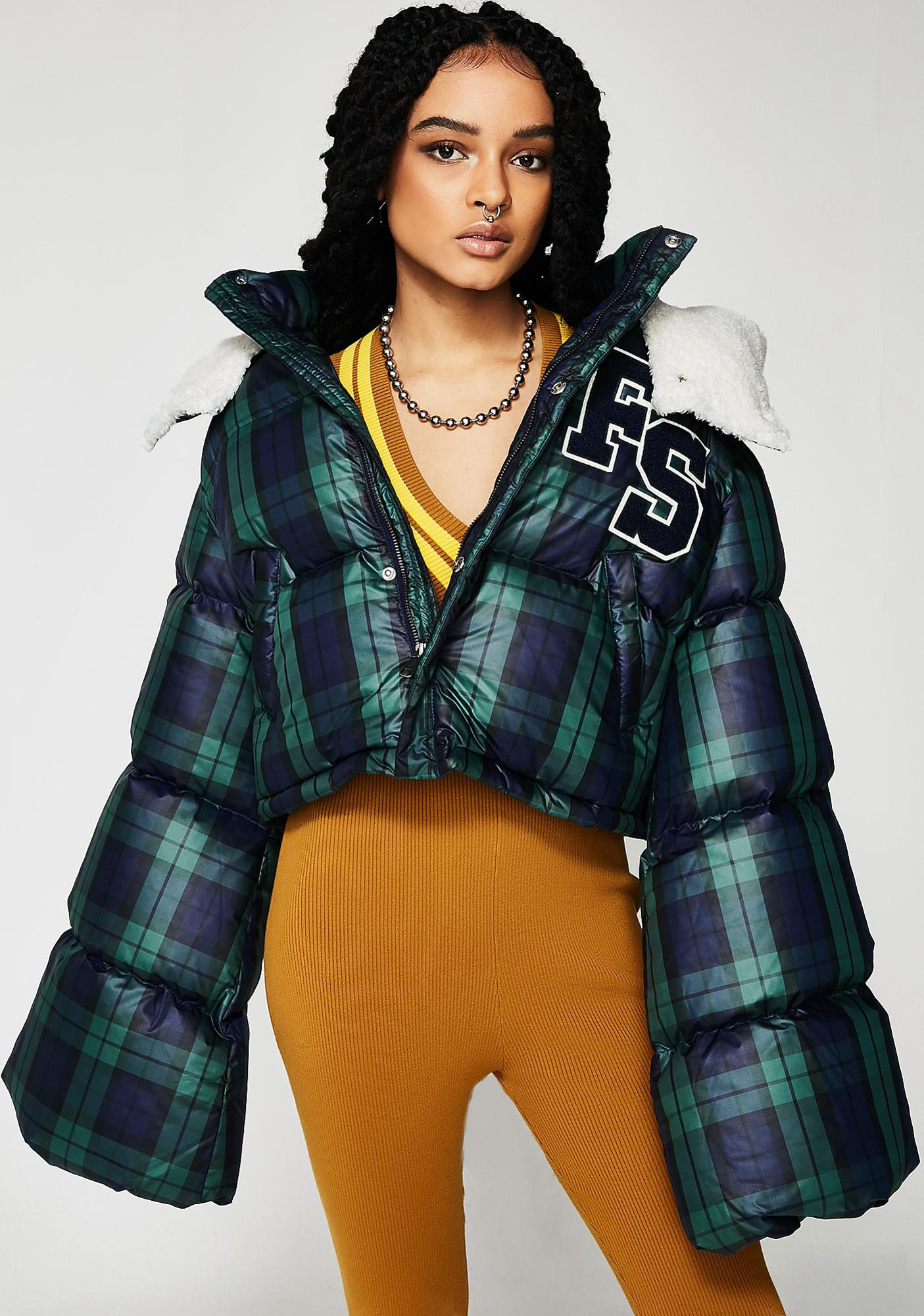 FENTY PUMA By Rihanna Cropped Hooded Puffer Jacket
