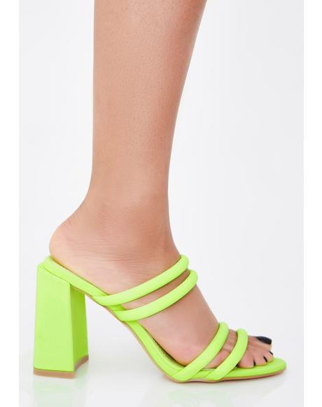 Nuclear Fame Addict Strappy Mules