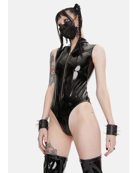 Zip Vinyl Bodysuit