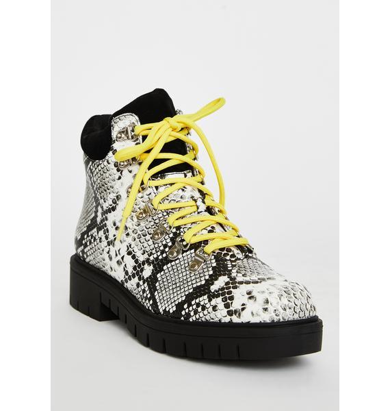 Vibin' Viper Ankle Boots