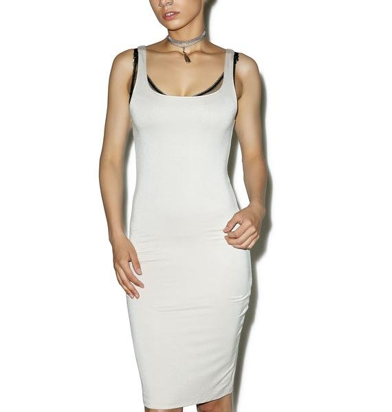 BLQ BASIQ Back Slit Tank Midi Dress