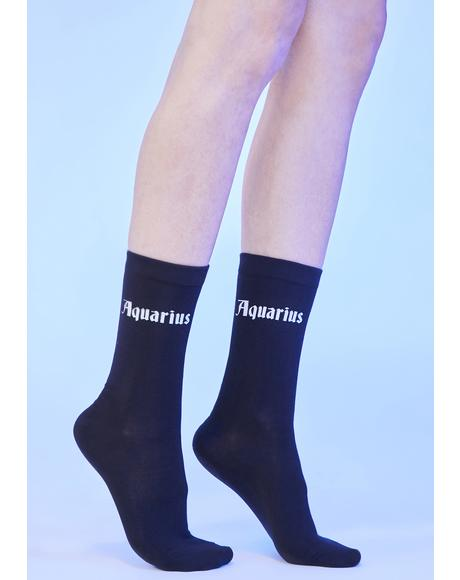 Social Sweetheart Aquarius Crew Socks