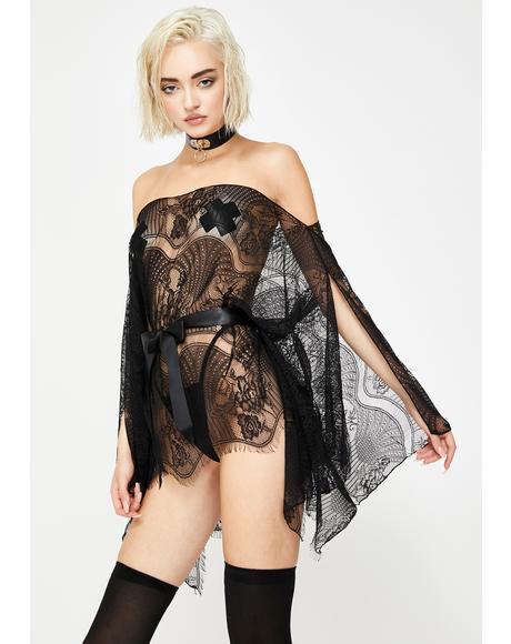 Midnight Escape Lace Caftan