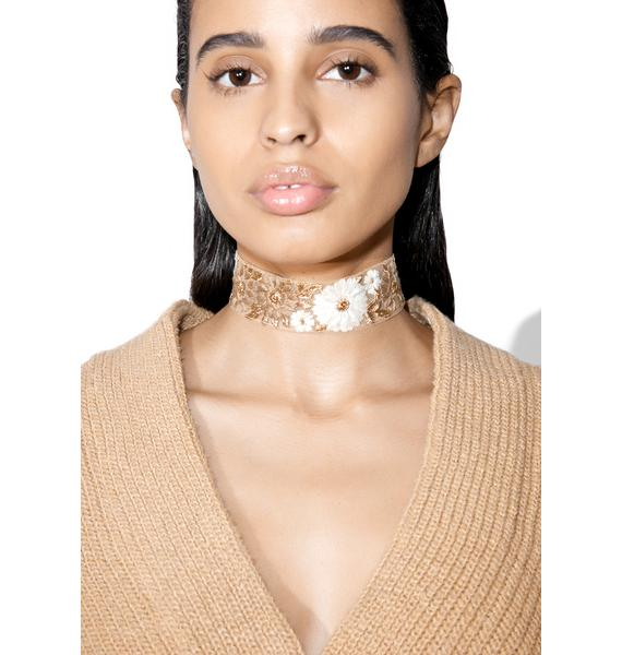 Rock n Rose Josephine Embroidered Floral Choker