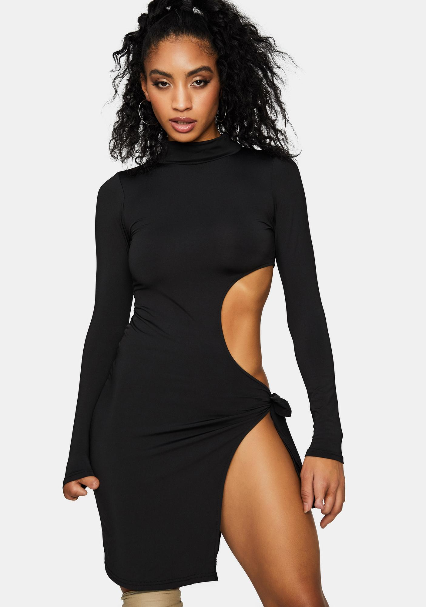 Can't Stop Staring Cut-Out Mini Dress