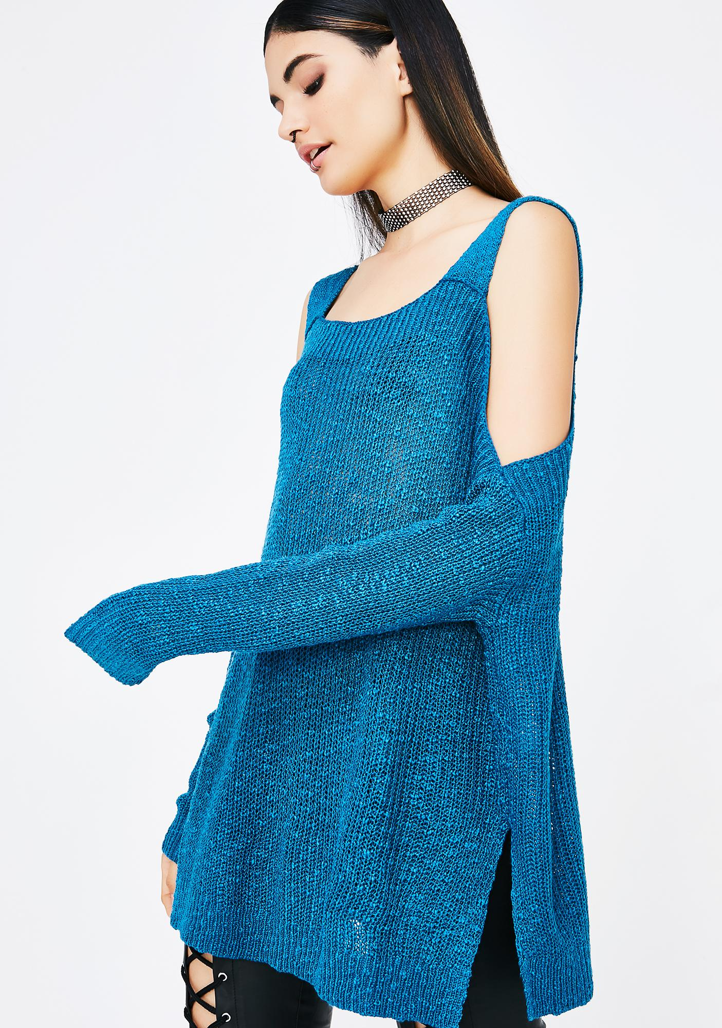 Cold Hearted Cold Shoulder Sweater
