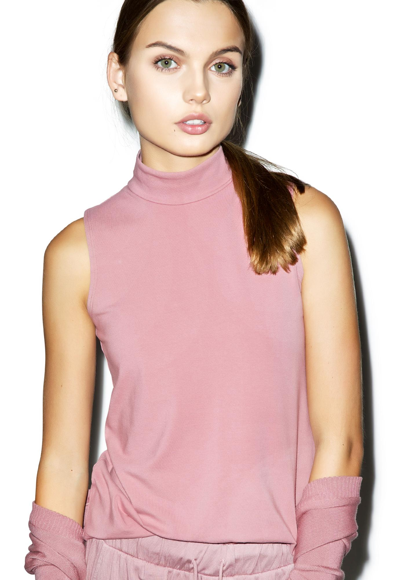 Groceries Apparel Lelani Rose Mock Neck Top