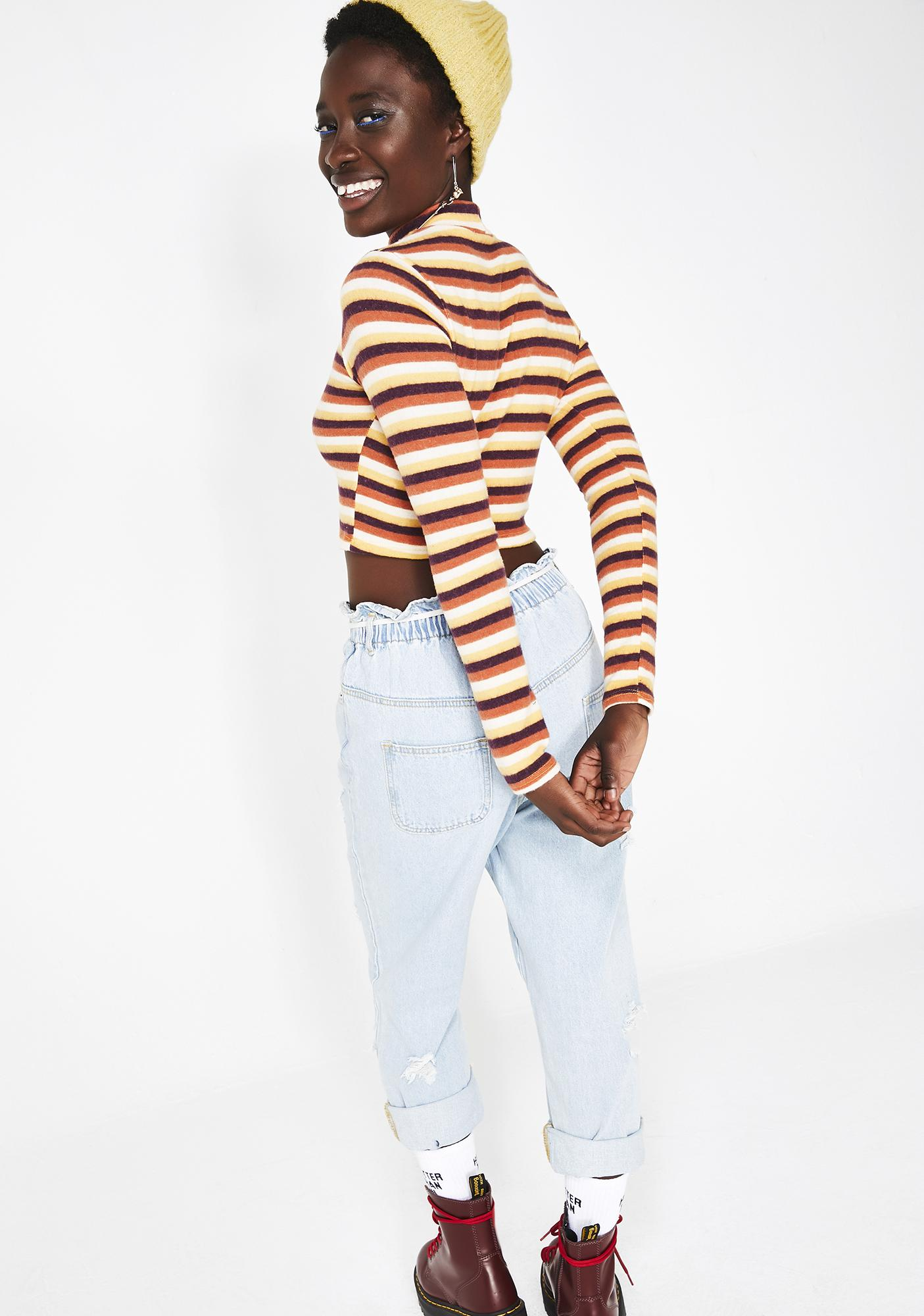 Too Dope For U Stripe Top