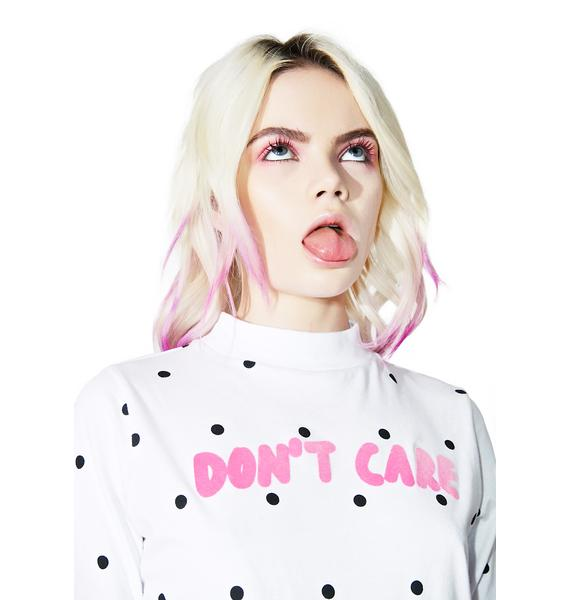 Lazy Oaf Don't Care Spotty Tee