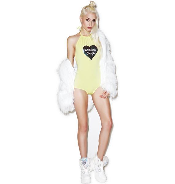 MeYouVersusLife Don't Change Halter Bodysuit