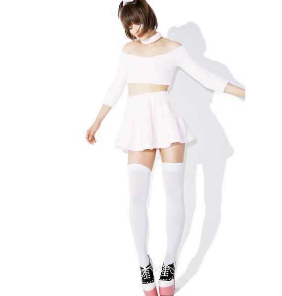 Melonhopper Candy Fluff High-Waisted Skirt