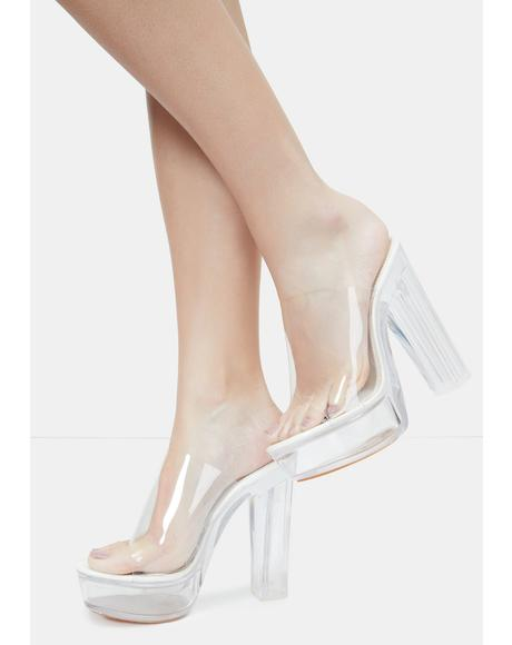 White Willanta Platform Heels