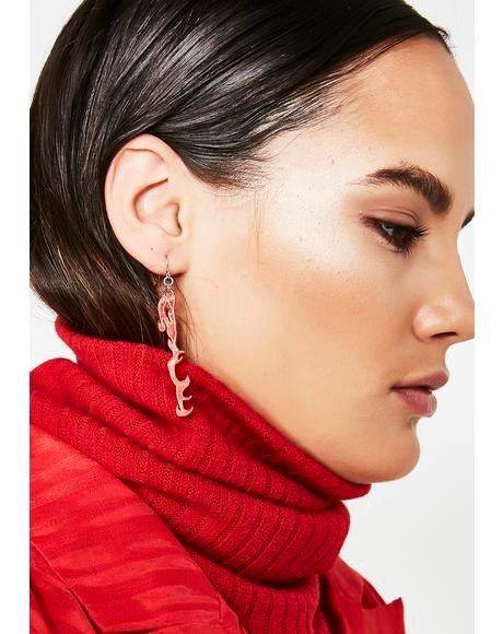 On The Lit List Flame Earrings
