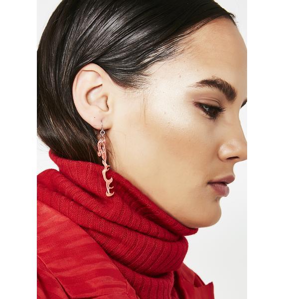On The Lit List Flame Earrings
