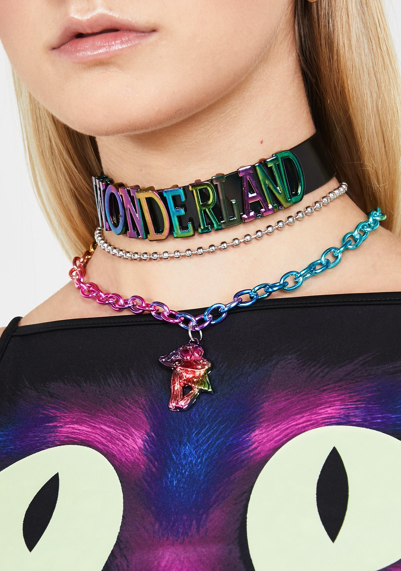 Deep In Wonderland Iridescent Choker