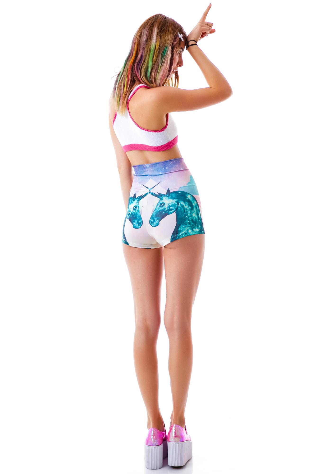 Too Fast Rainbow Unicorn Girl Hot Shorts