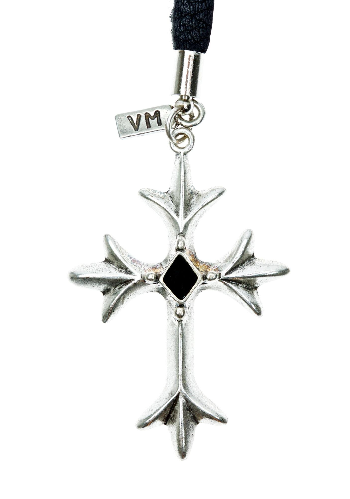 Vanessa Mooney Diamond 'N Cross Bolo Choker
