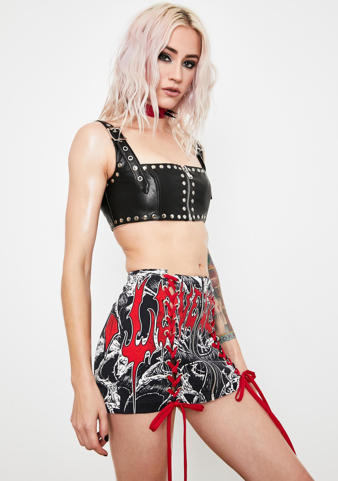 Current Mood Loveless Exile Mini Skirt