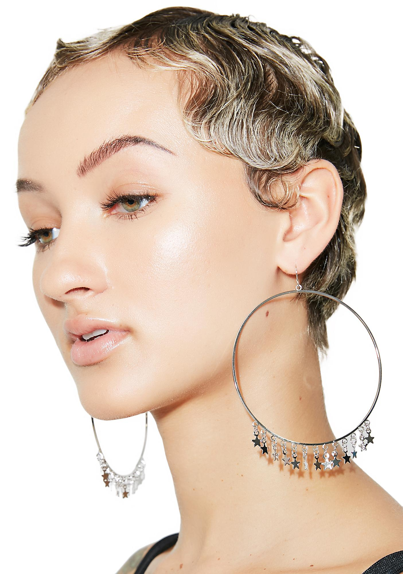 Star Bright Hoop Earrings