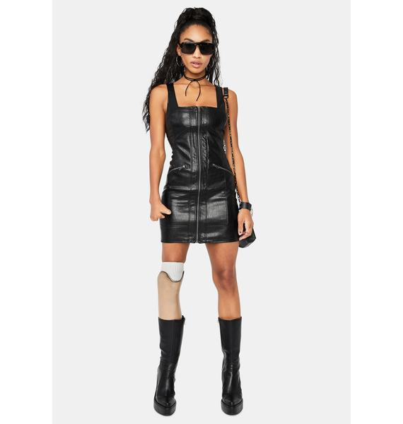 Free People Johnny Vegan Leather Mini Dress