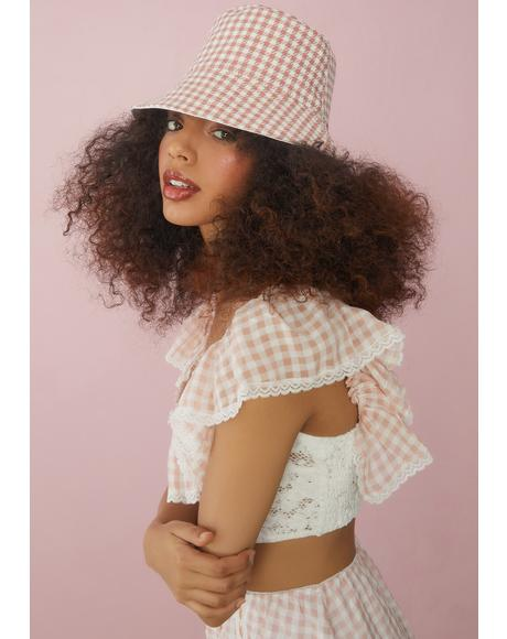 Sweet Pass For Perfect Houndstooth Bucket Hat