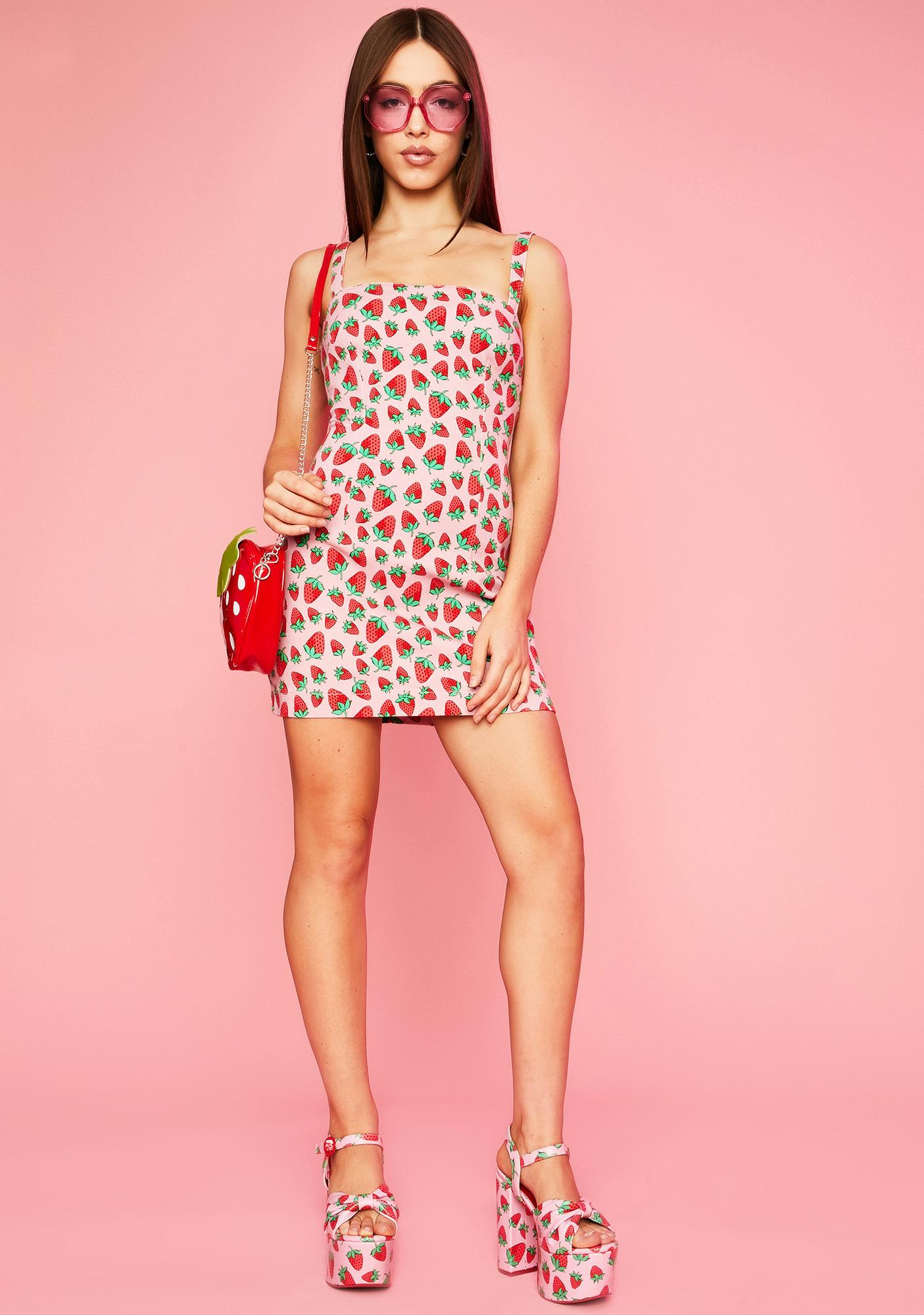 Sugar Thrillz Strawberry Fields Denim Dress