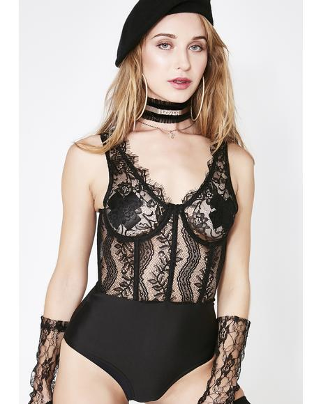 Flirt With Passion Lace Bodysuit