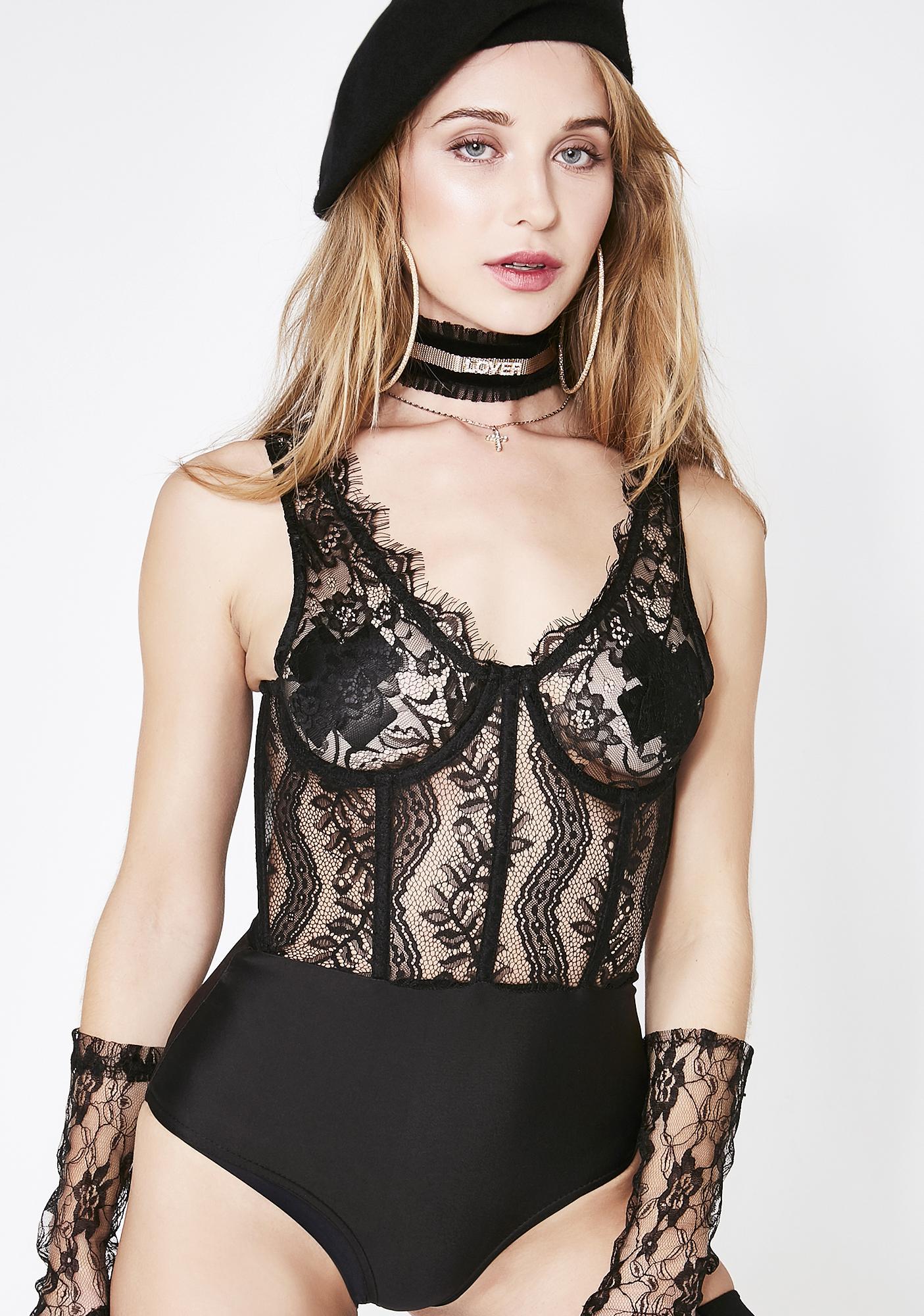 Flirt With Passion Lace Bodysuit
