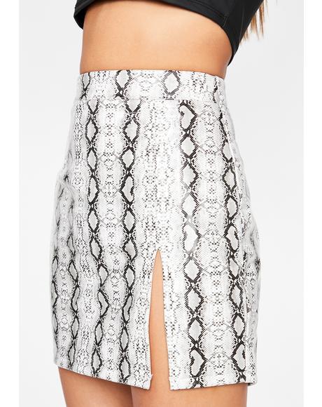 Tastin' Venom Snakeskin Skirt