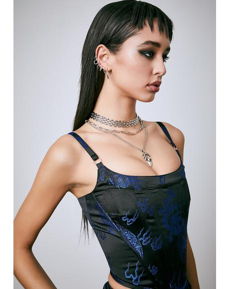 Royal Dragon's Den Corset Top