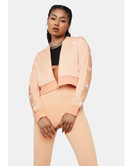 Peach Pink 222 Banda Osbar Track Jacket