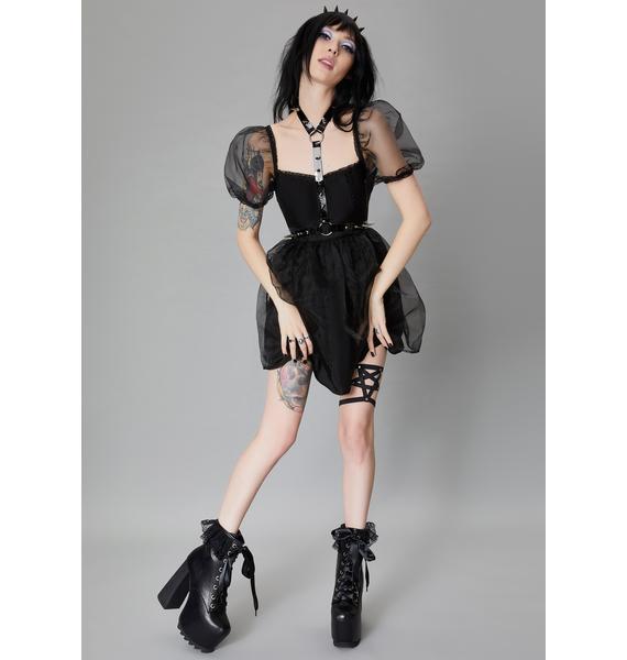 Widow Devil's Dance Lace Up Boots